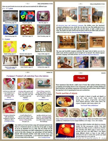 Montessori at Home Sample Pages