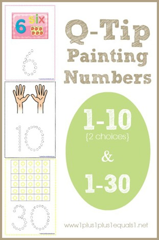 Q Tip Painting Numbers