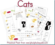 Cats Preschool Pack
