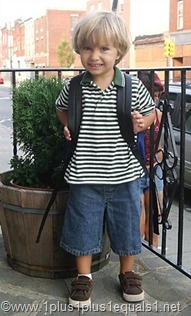 His 1st Day of Going School