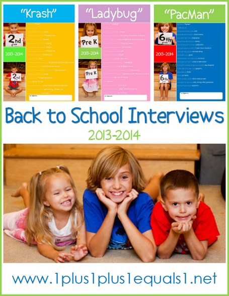 Homeschool Interviews 2013
