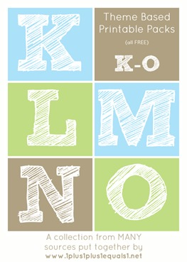 Theme Printables K through O