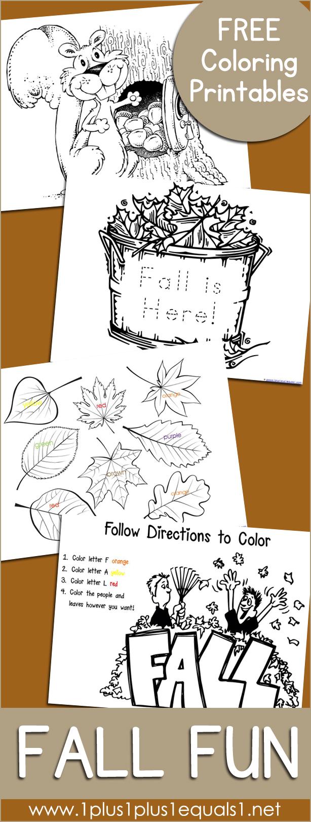 Fall Coloring Printables