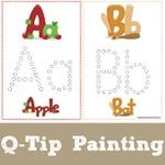 Q Tip Alphabet Painting
