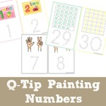 Q Tip Painting Number Printables