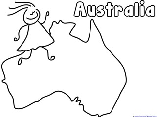Australia Continent Kid Printable