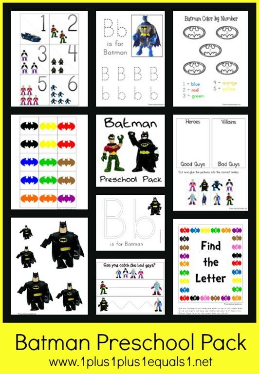 Batman Preschool Pack - 1+1+1=1