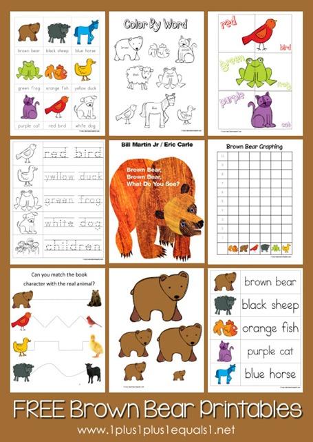 Brown Bear Brown bear Printables