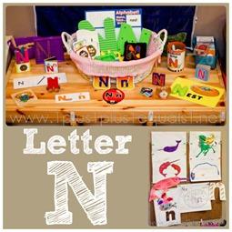 Home Preschool letter N