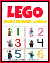 Lego Mini Work Drawer Labels