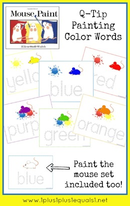 Mouse Paint Q Tip Painting Color Words