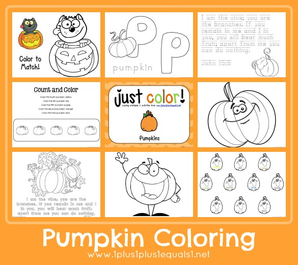 Pumpkins ~ Just Color! - 1+1+1=1