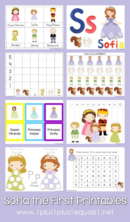 Sofia the First Printable Pack