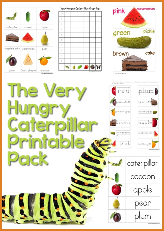 It is a graphic of Gargantuan The Very Hungry Caterpillar Printable