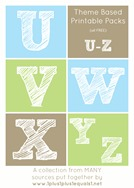 Theme Printables U through Z