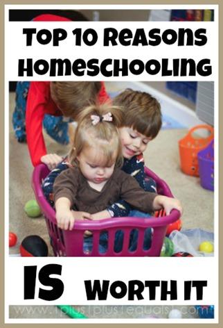 Top Ten Reasons Homeschooling is Worth it