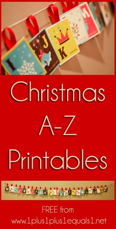 am so excited about these new Christmas Alphabet Printables! We will ...