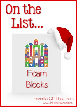 On the List... Foam Blocks