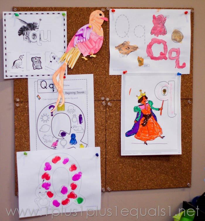 home preschool letter q 0595