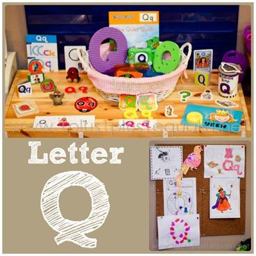 Home Preschool letter Q