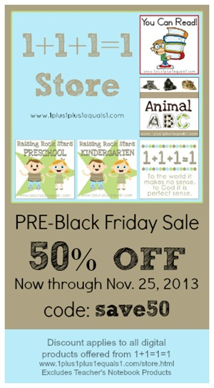Pre Black Friday Sale 2013