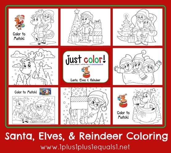 Christmas Coloring ...Santa Elves and Reindeer_thumb[2]