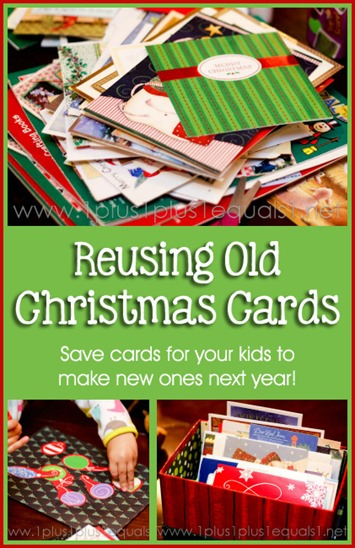 Reusing Old Christmas Cards for Kids to Make New Ones