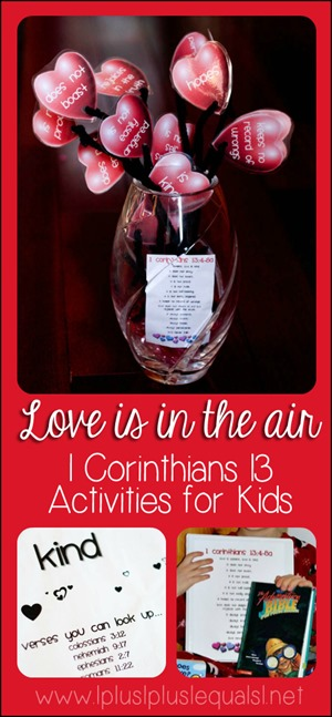 Love Activities for Kids Based on 1 Corinthians 13
