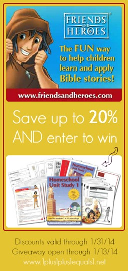 Friends and Heroes Discount and Giveaway