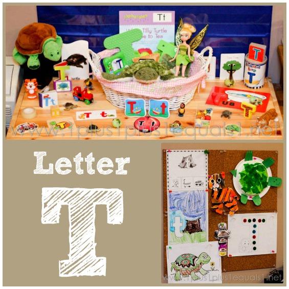 Home Preschool ~ Letter T - 1+1+1=1