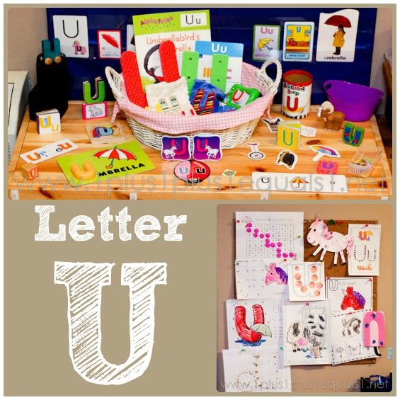 Home Preschool ~ Letter U - 1+1+1=1
