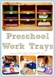 Preschool Work Trays 2