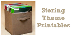 Storing Theme Printables