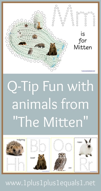 The Mitten Q Tip Painting Printables