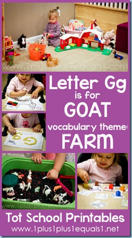 Tot School Printables G is for Goat
