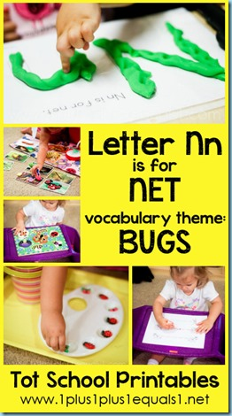 Tot School Printables N is for Net