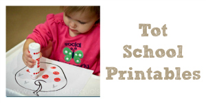 Tot School Printables
