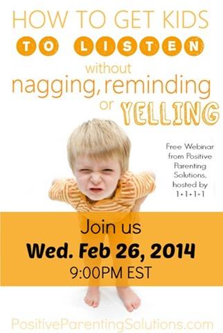 Positive Parenting Solutions Webinar February 26, 2014