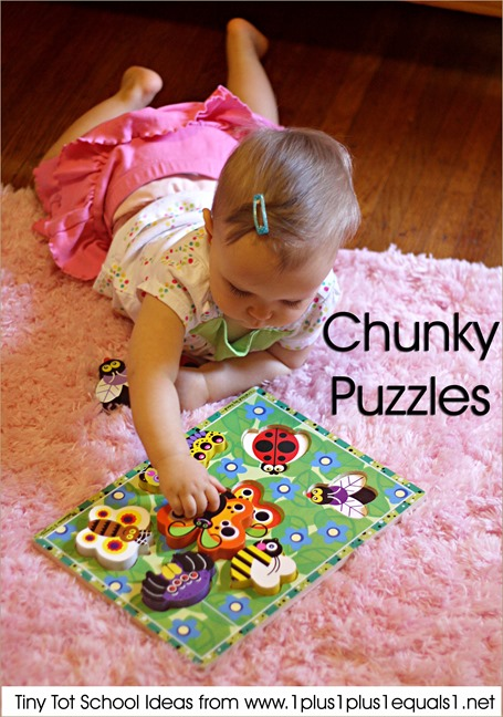 Tiny Tot School Chunky Puzzles 9-12 months