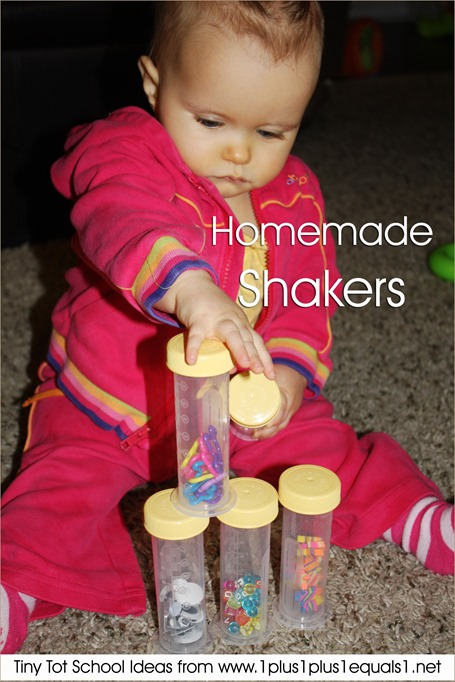 Tiny Tot School Homemade Shakers 9-12 months