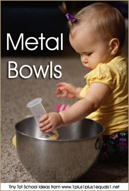 Tiny Tot School Metal Bowls 9-12 months
