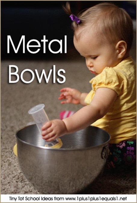 Tiny Tot School Metal Bowls 9-12 months
