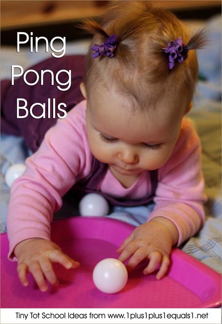 Tiny Tot School Ping Pong Balls 9-12 months