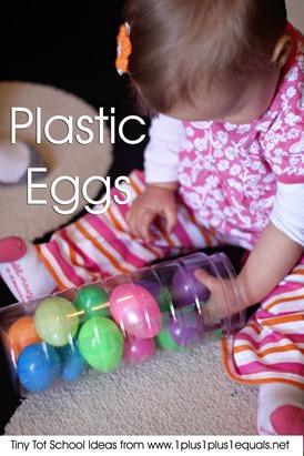Tiny Tot School Plastic Eggs 9-12 months