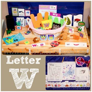 Home Preschool Letter W