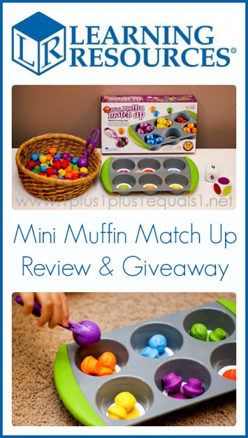 Learning Resources Mini Muffin Match Up Review and Giveaway