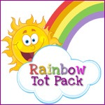 Rainbow Tot Pack Button