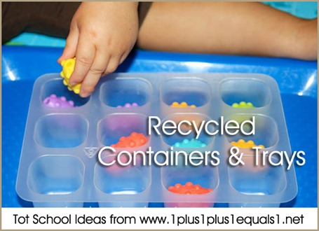 Tot School Recycled Containers 12-18 Months