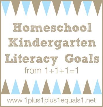 Homeschool Kindergarten Literacy Goals