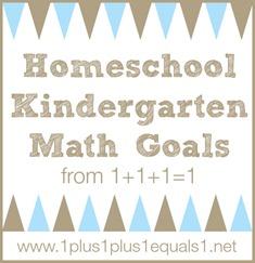Homeschool Kindergarten Math Goals
